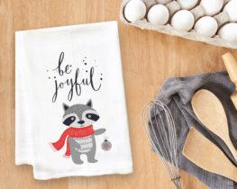Be Joyful Fox Tea Towel