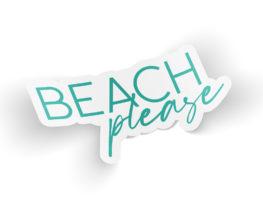 beachpleasesticker