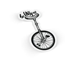 beuniqueunicyclesticker