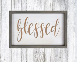 blessedwoodsign