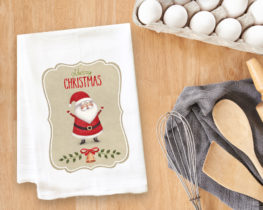 Christmas Santa Tea Towel