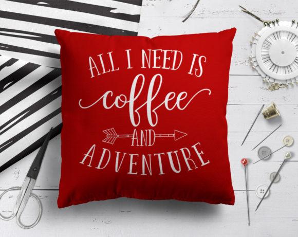 coffeeandadventurepillow