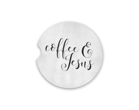 coffeeandjesuscarcoaster