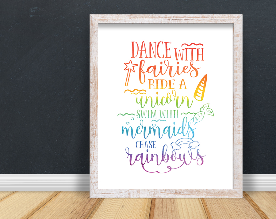 Dance With Fairies Print Quotable Life