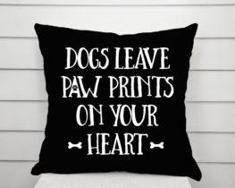 dogsleavepawprintspillow