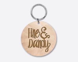 fineanddandy-circlewoodenkeychain