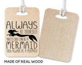 mermaidluggagetagwooden
