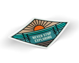 neverstopexploringsticker