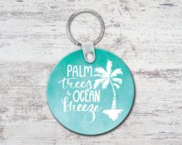 palmtreesoceanbreezekeychain