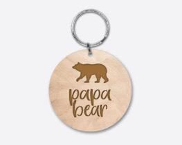 papabear-circlewoodenkeychain