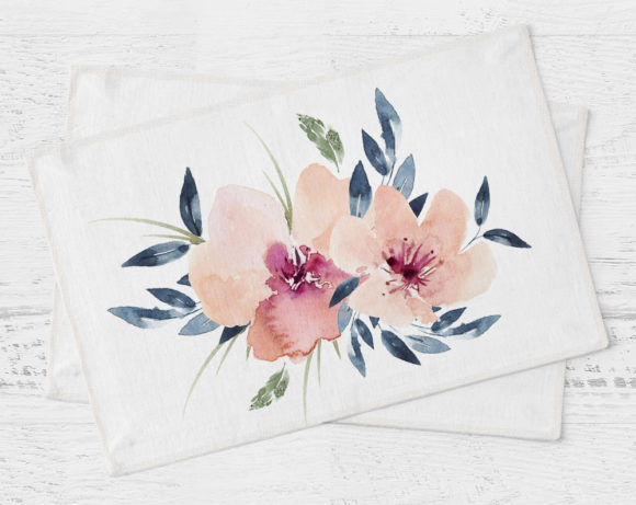 peachandgreyfloralplacemat