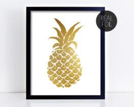 pineapplefoilprint
