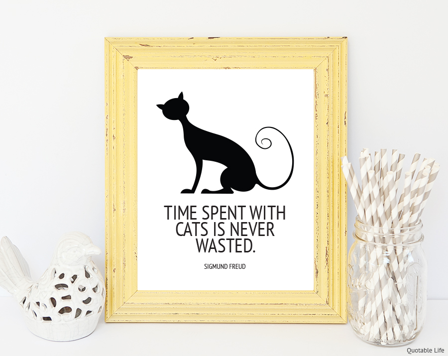 Time Spent With Cats Print Quotable Life