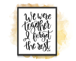 weweretogetherprint