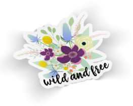 wildandfreefloralsticker